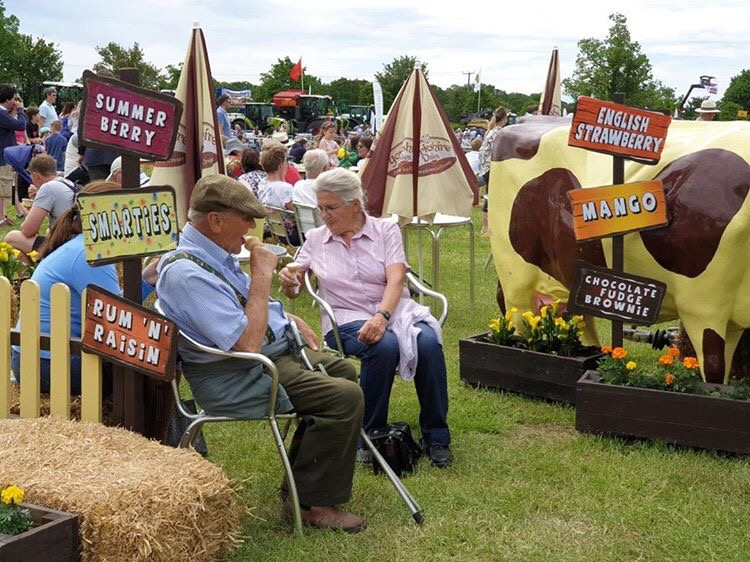 couple enjoying ice cream at yorkshire show