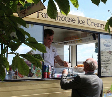 corporate hire ice cream van