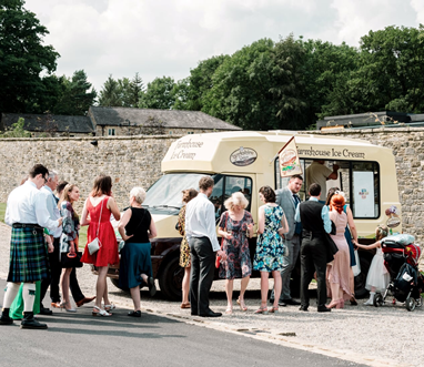ice cream van for wedding dessert