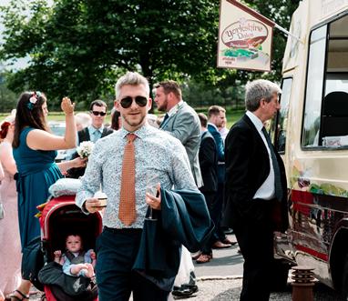 ice cream van for wedding reception