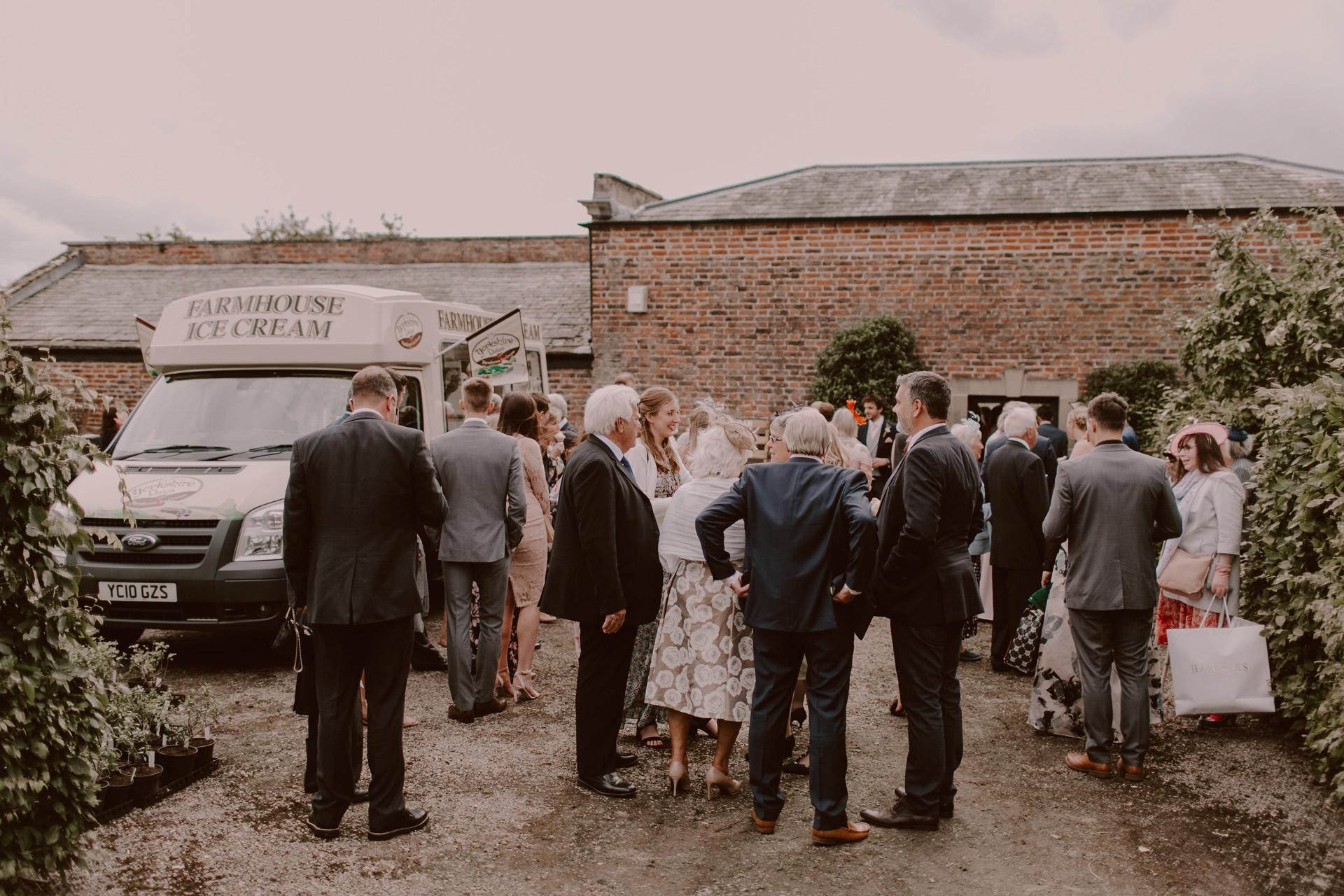 ice cream van for wedding celebrations